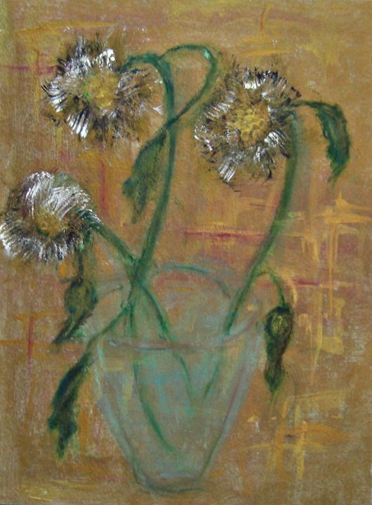 Sunflowers on Gold - Michaela Galleries