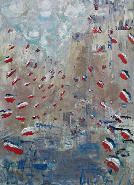 After Monet's Rue Montorgueil - Michaela Galleries