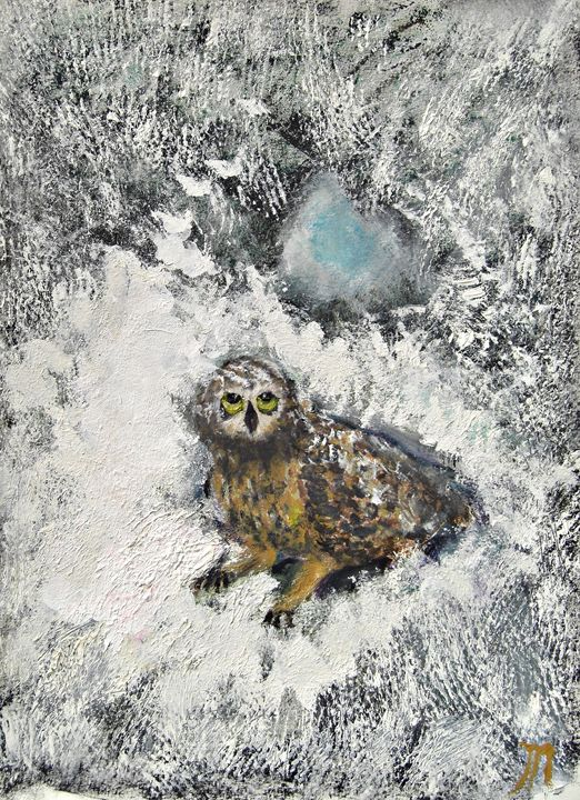Owl on a Snowy Afternoon - Michaela Galleries