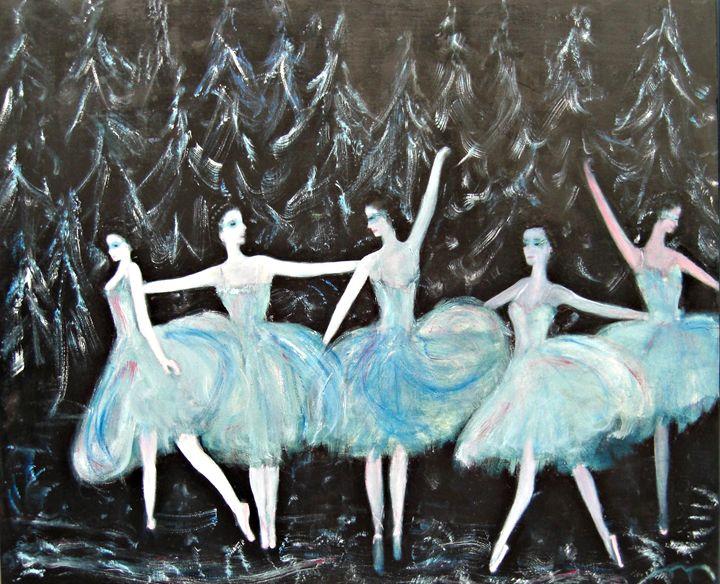 Ballet in Blue - Michaela Galleries