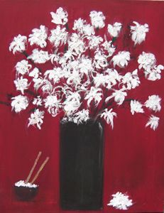 Chrysanthemums and The Rice Bowl - Michaela Galleries