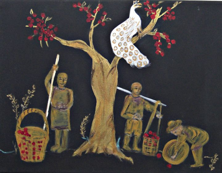 Peacock in the Orchard - Michaela Galleries