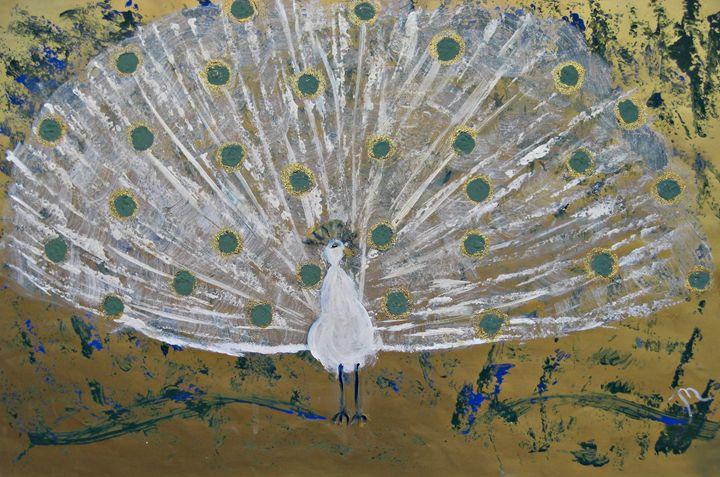 The Aqua Peacock - Michaela Galleries