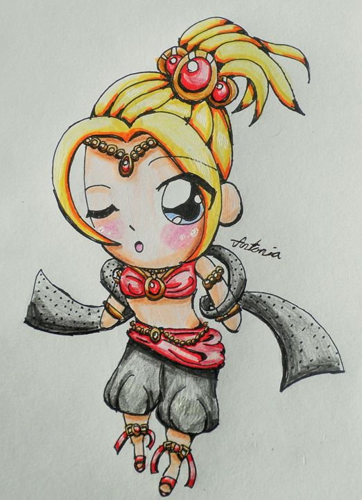 Arabian Chibi Girl - PieChan Creations