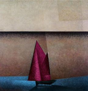 Pink Sails at Dawn Nautical Painting