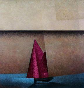 Pink Sails at Dawn Nautical Painting