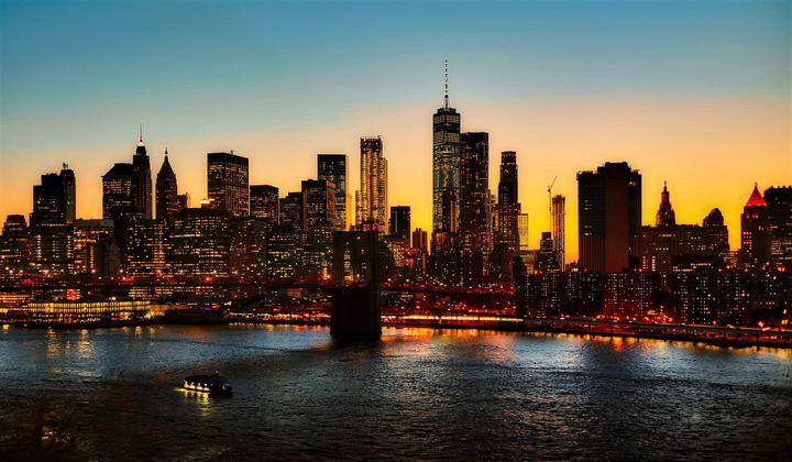 Lower Manhattan at Sunset - Jeanpaul Ferro