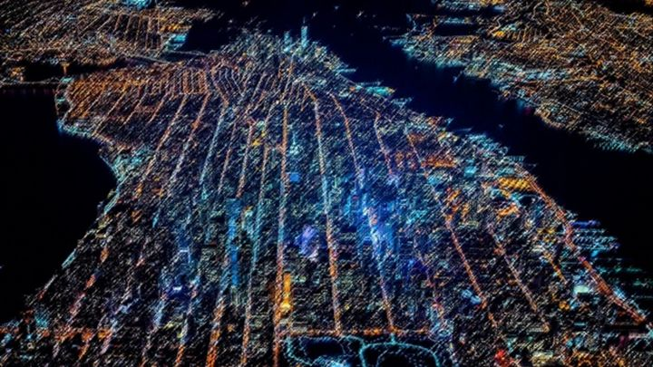 Airplane View of New York Landscape - Jeanpaul Ferro