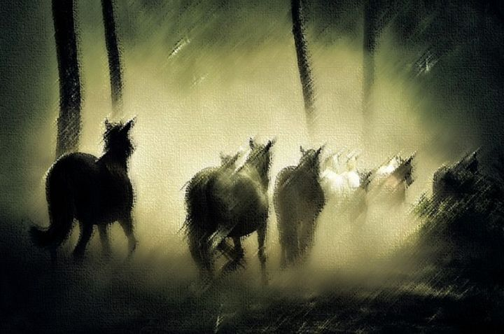 Band of Forest Horses - Jeanpaul Ferro