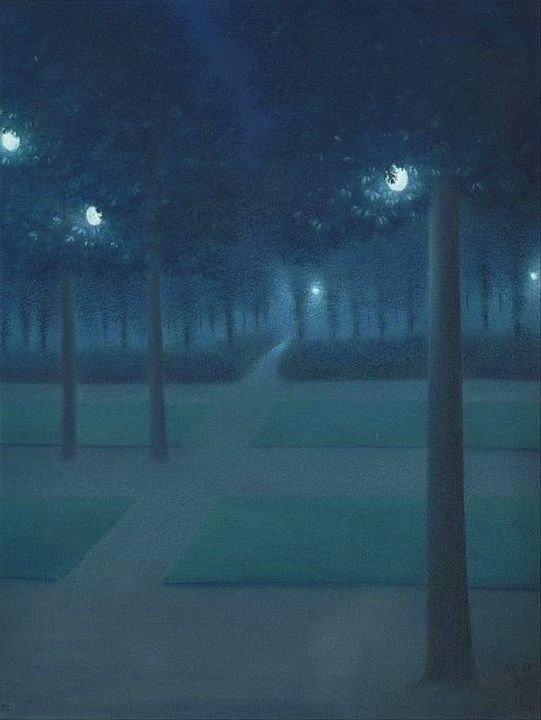 Blue Nocturne in the Park, Night - Jeanpaul Ferro