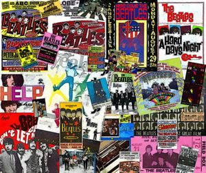 Beatles Concert & Ticket Collage