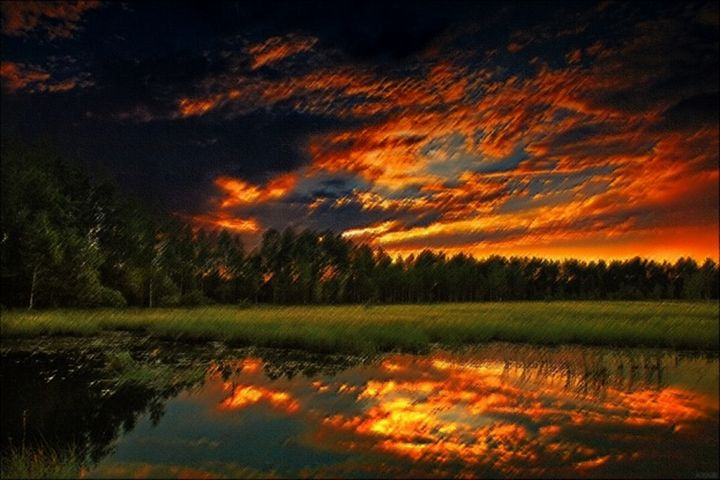 Betty Pond Sunset, Scituate R.I - Jeanpaul Ferro