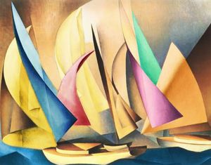 Sailboats by Lyonel Feininger