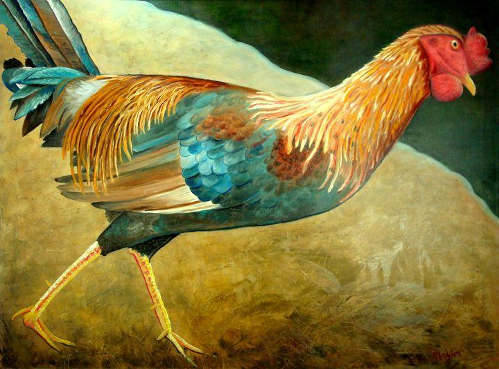 Running Rooster - Whimsical Artist Scott Plaster