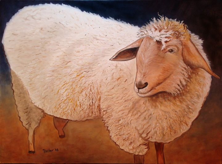 Shaggy Sheep - Whimsical Artist Scott Plaster