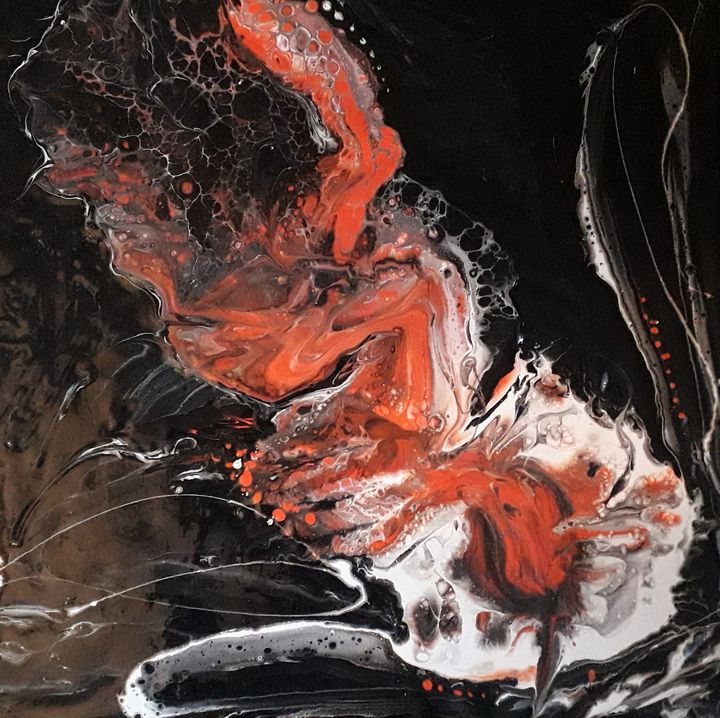 Orange Bloom - LC - Linda's Art