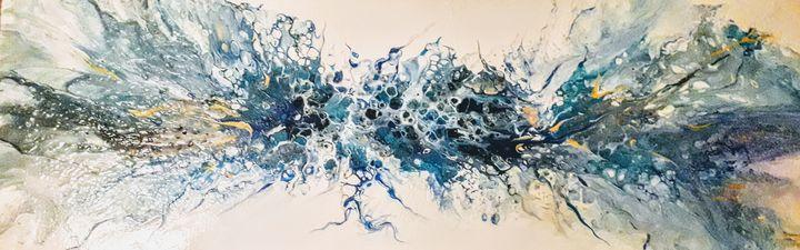 Blue explosion - LC - Linda's Art