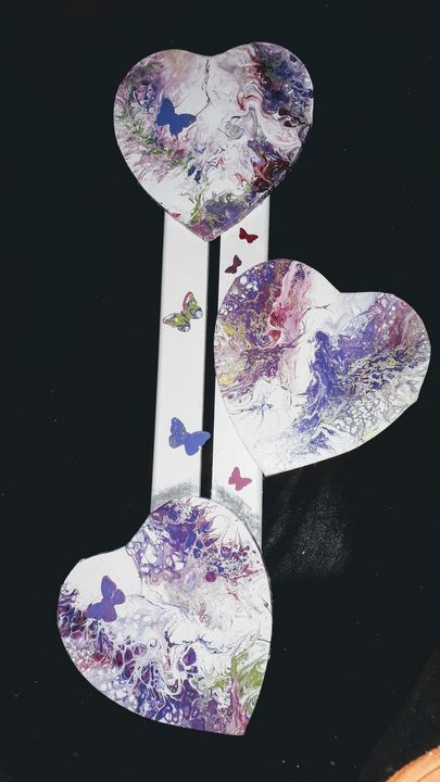 Triptyque hearts - LC - Linda's Art