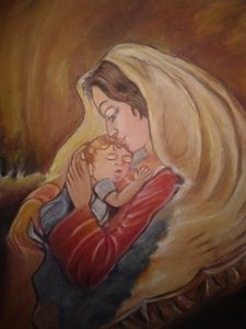 Experessions of Mother's Love Oil Pa