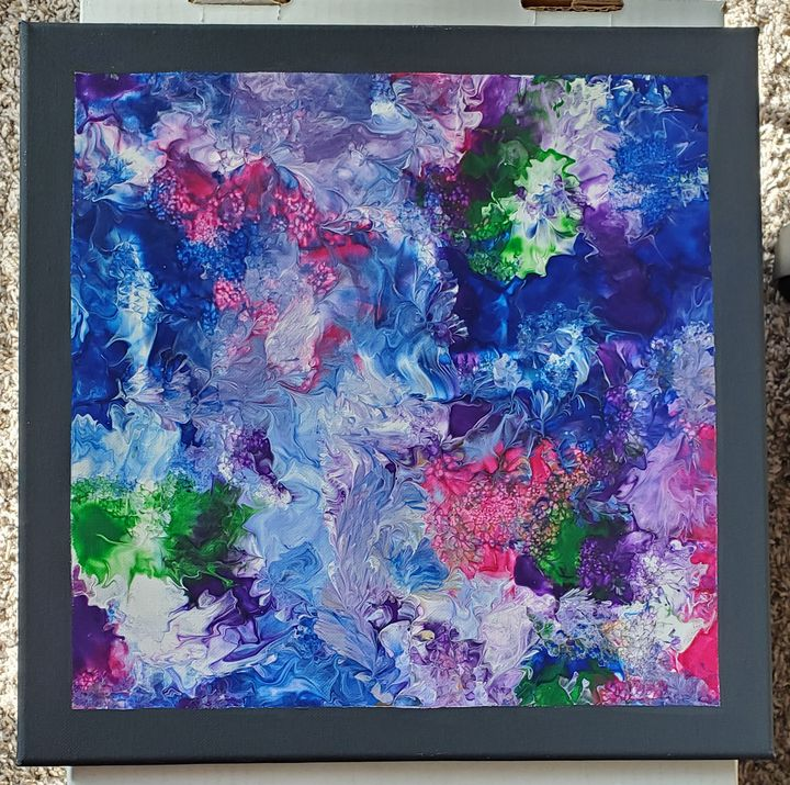 Colorful abstract painting - Arts and Crafts by Dawn