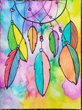 Watercolor dream catcher painting