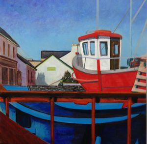 Boats at dry dock, Donegal