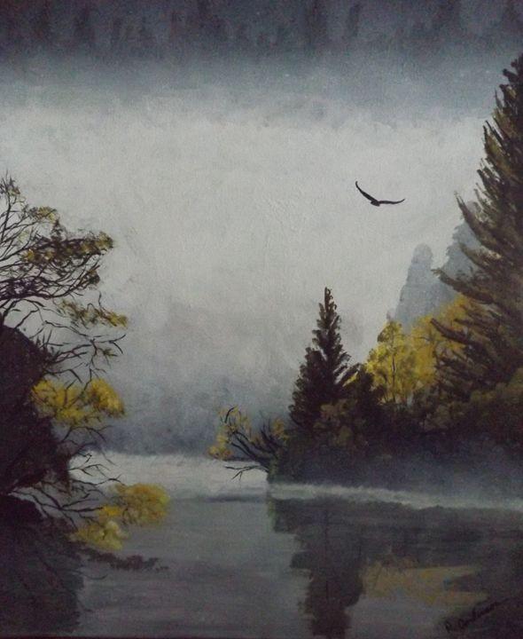 Misty Morning - Rustic Heart