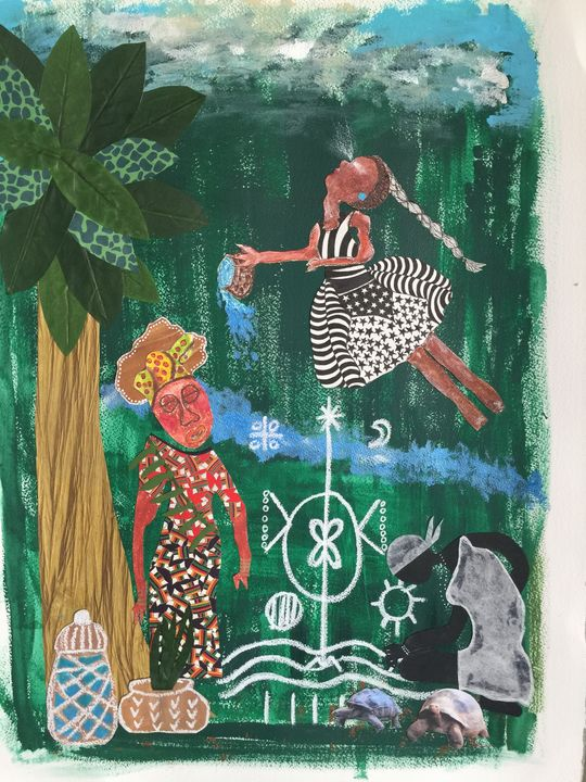 Maferefun Olokun - Conjure Collage Art & Design
