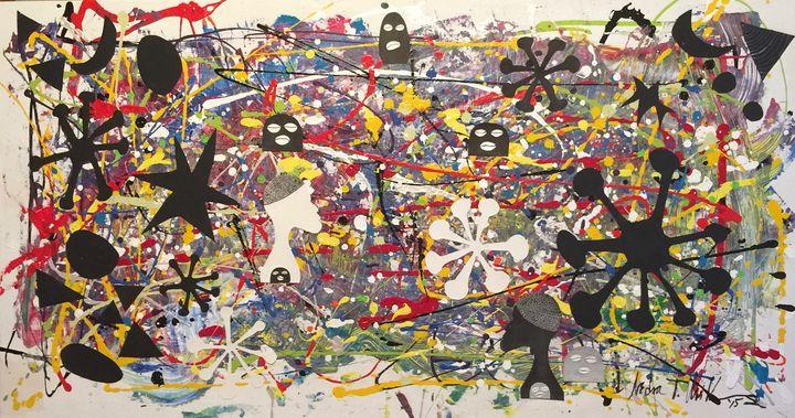 Eshu Rising - Conjure Collage Art & Design