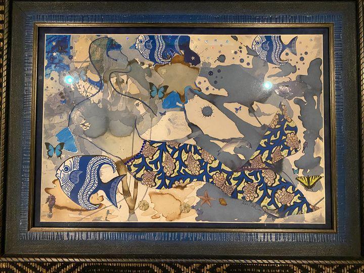 Blue Mermaid - Conjure Collage Art & Design