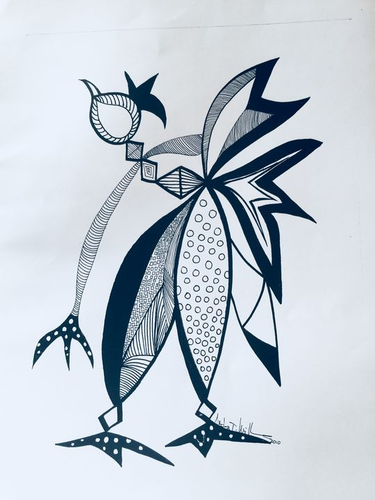 Exotic Bird - Conjure Collage Art & Design