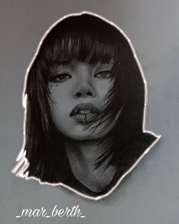 Lalisa Manoban portrait - Zech Art