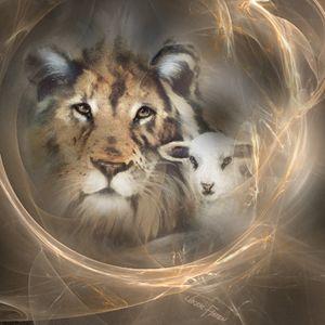 """""""lion lamb"""" peace religious"""