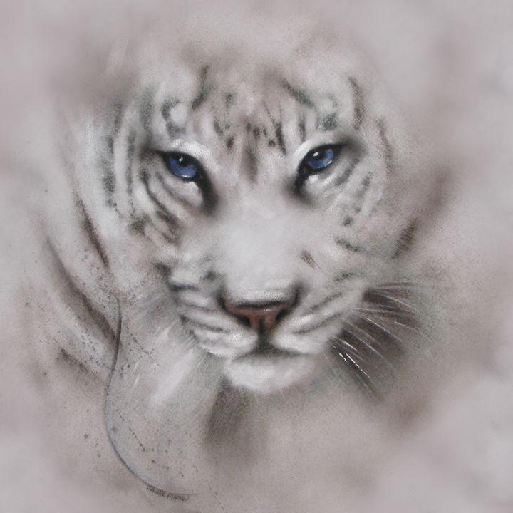"""""""White tiger"""" Tiger - Jackie Flaten"""