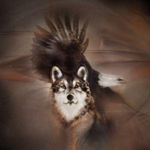 """Eagle Wolf"" Eagle Wolf indian"