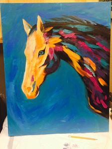 Abstract horse original