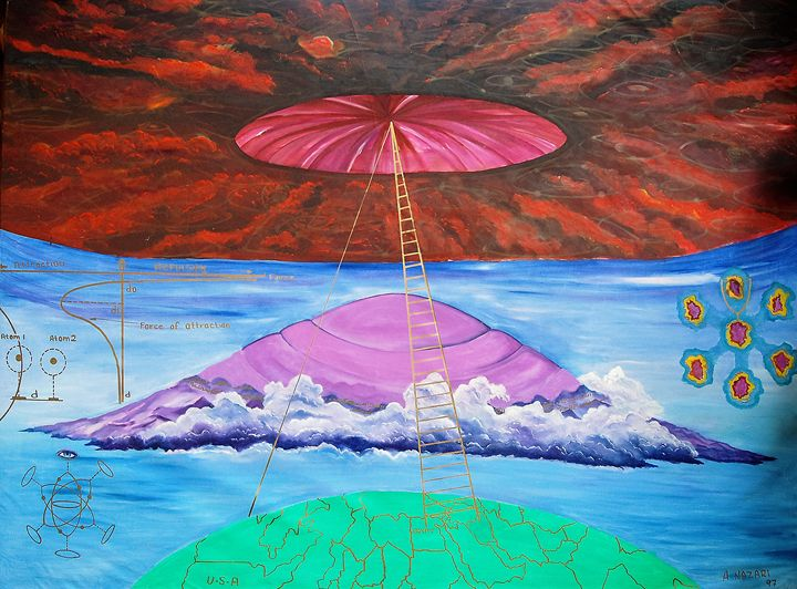 Resurrection inspired by sura Tour - Ali Akbar Nazari