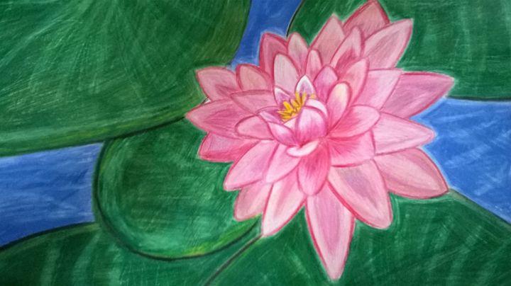 A FLOATING PINK LOTUS FLOWER - Genesis Vergara Flores