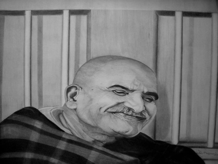 neem karoli baba - pencil art