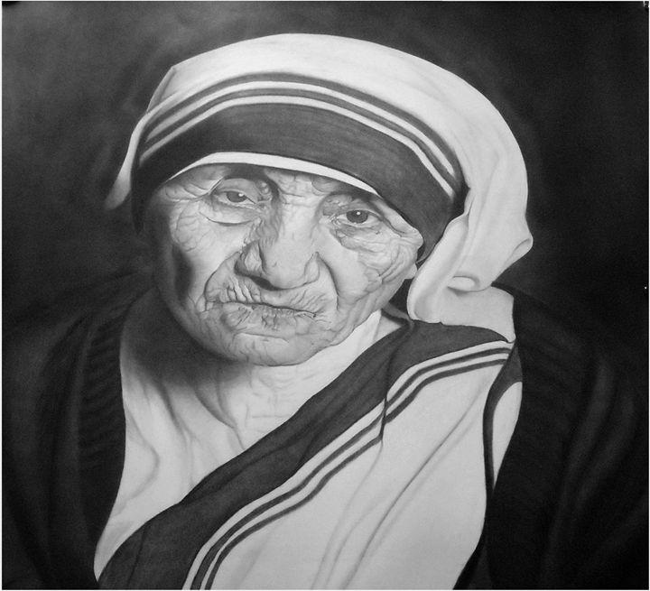 mother teresa - pencil art