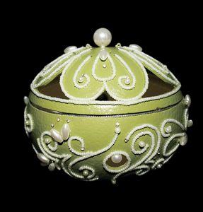 "Ostrich Egg Jewelry Box""Caroline"" - Ostrich Hall"