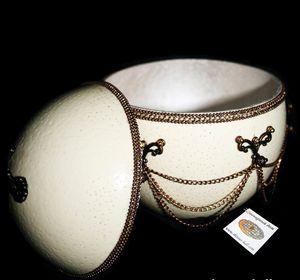 """Ostrich Egg Jewelry Box""""Lori"""" - Ostrich Hall"""