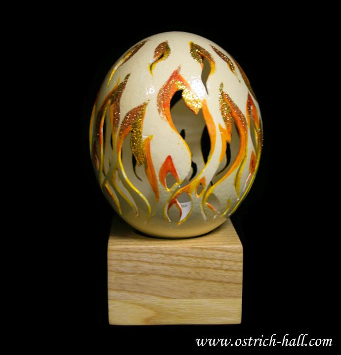 Ostrich Egg Table lamp - Ostrich Hall