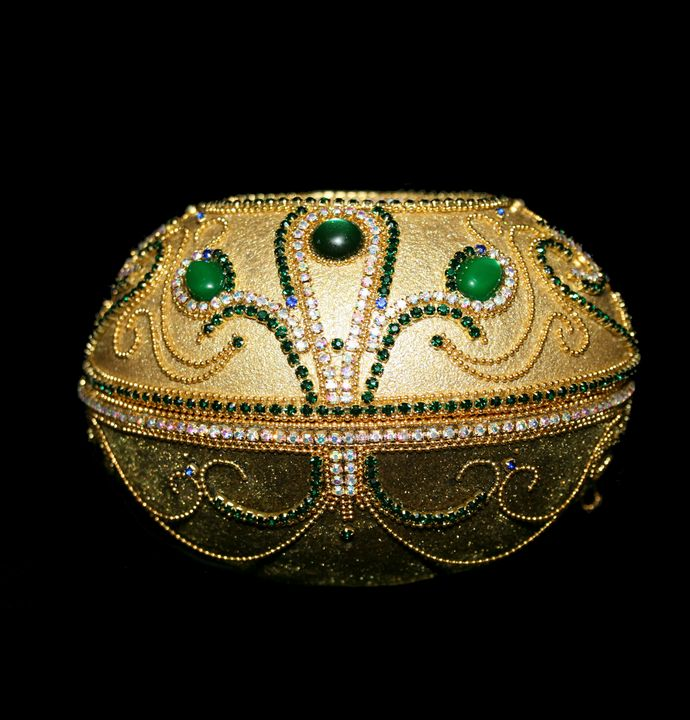 Ostich egg Jewelry box - Ostrich Hall