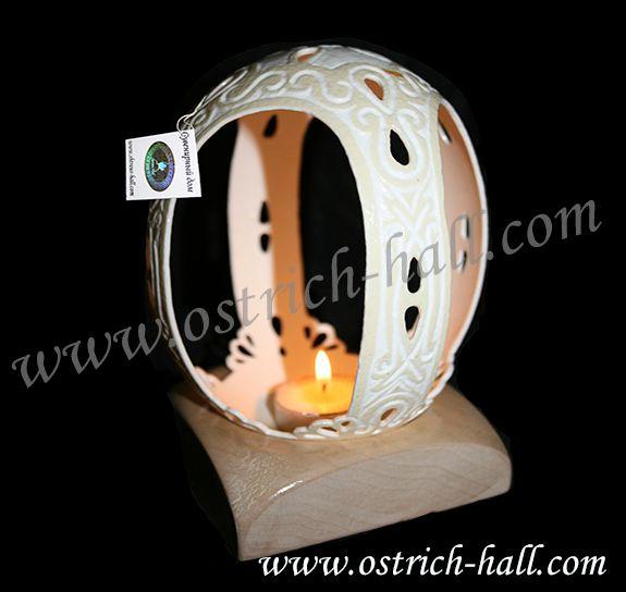 Ostrich Egg Candlestick - Ostrich Hall