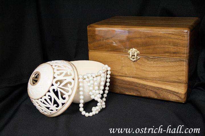 Ostrich Egg Jewelry Box - Ostrich Hall