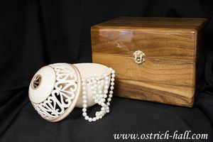 Ostrich Egg Jewelry Box