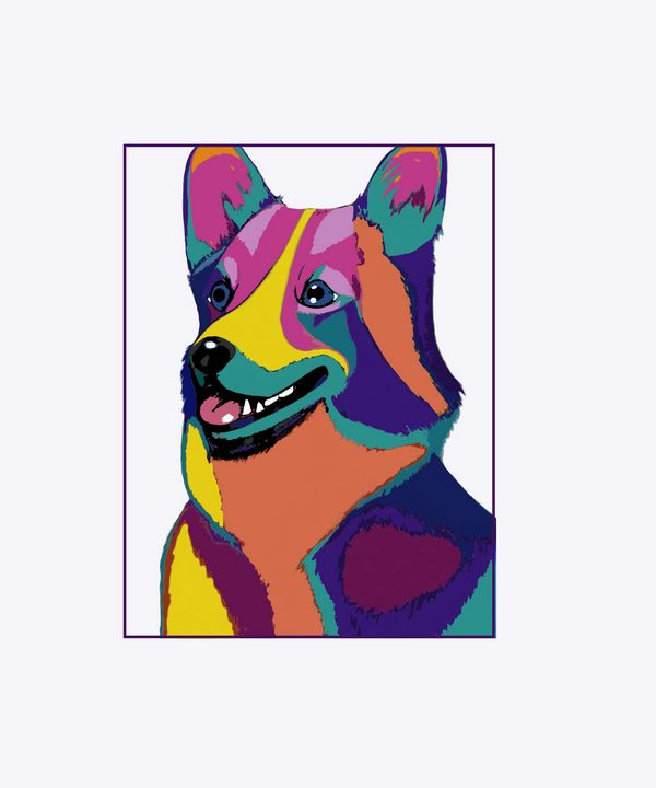 Colorful Corgi - Artful Gifts by Laura
