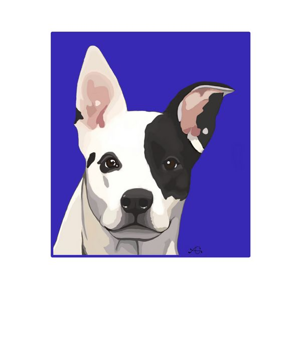 Graphic Art Black and White Dog - Artful Gifts by Laura