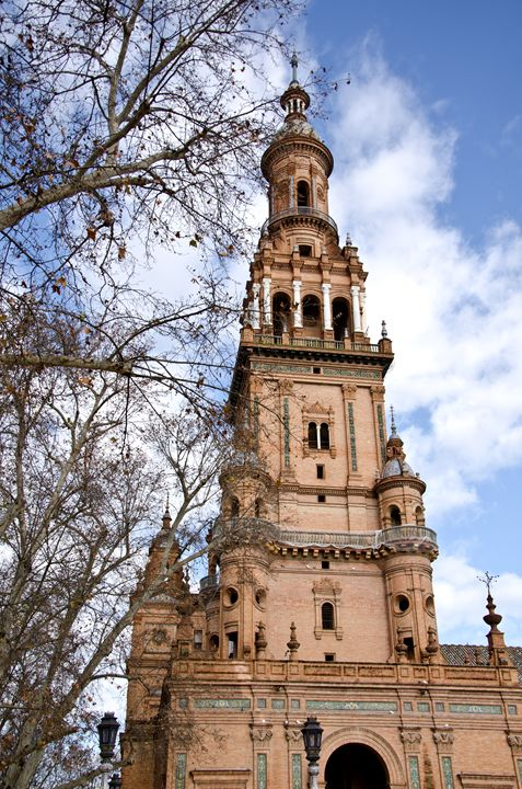 Palace of plaza de España, Seville. - Norberto Lauria